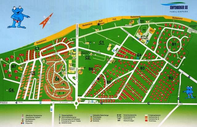 Plan kempingu Familienpark