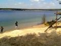 takie plaże podczas objazdu