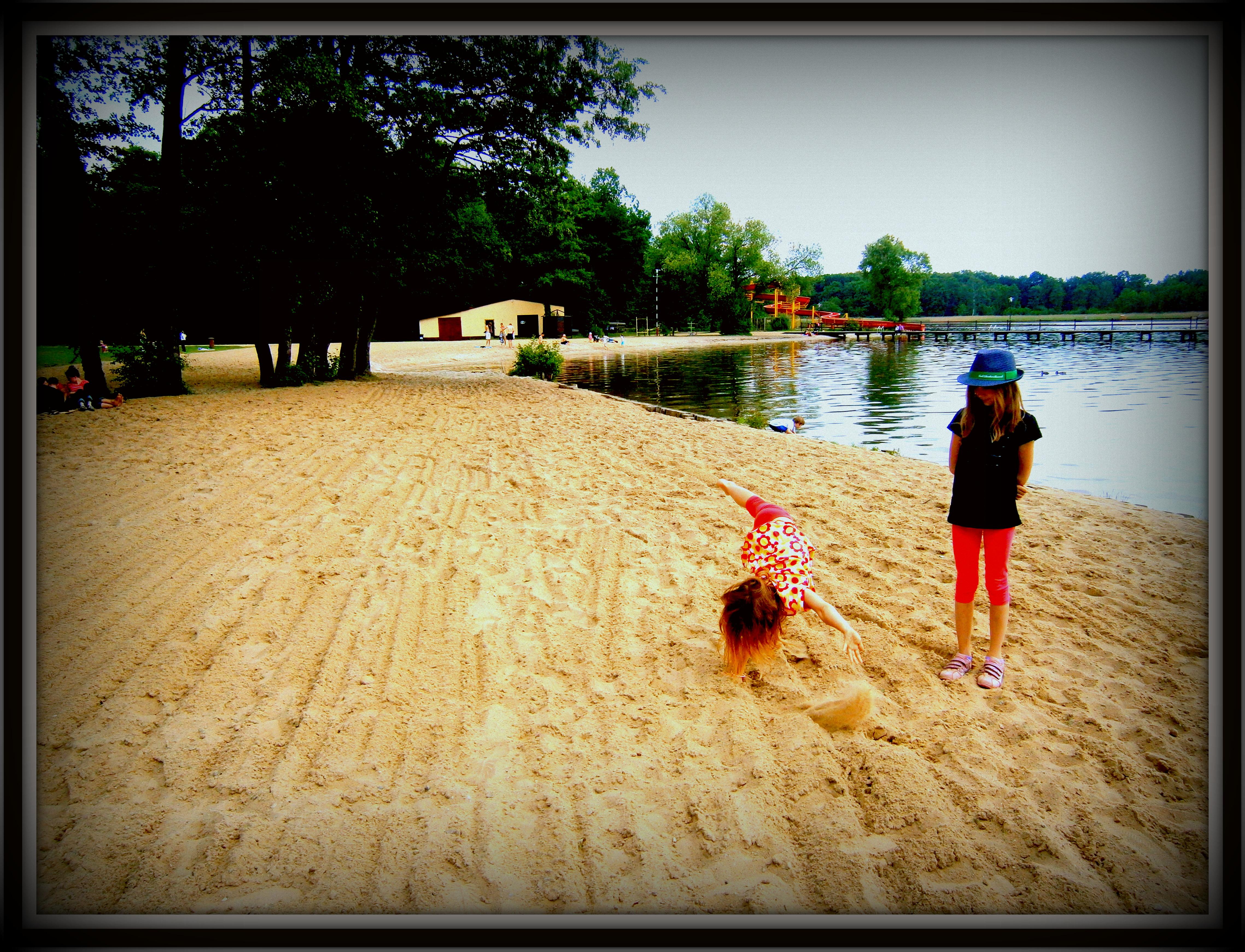 zabawy na plaży