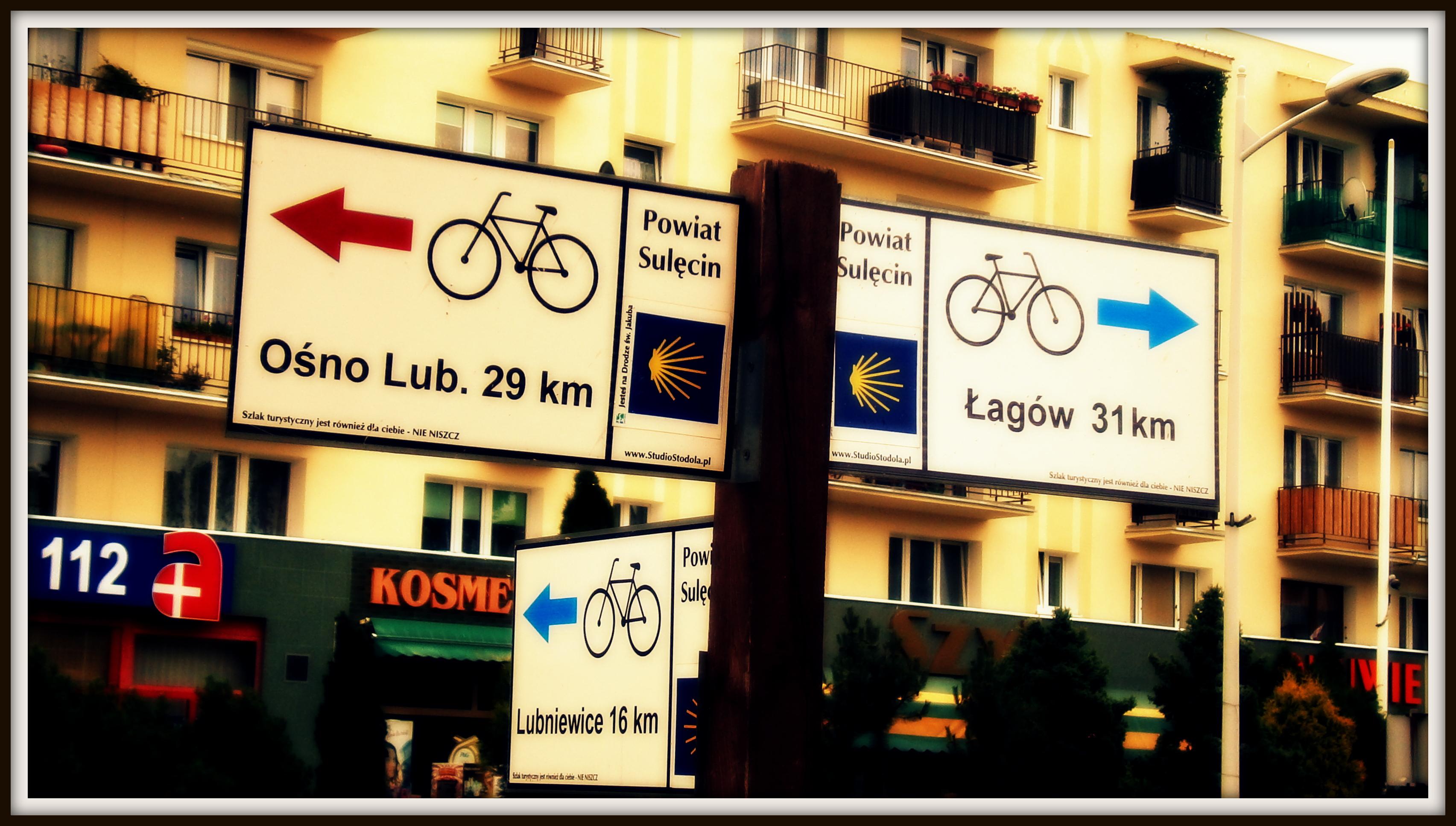 dobrze oznakowane ścieżki rowerowe w Sulęcinie