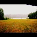 letnia ulewa nad jeziorem Ostrowskim