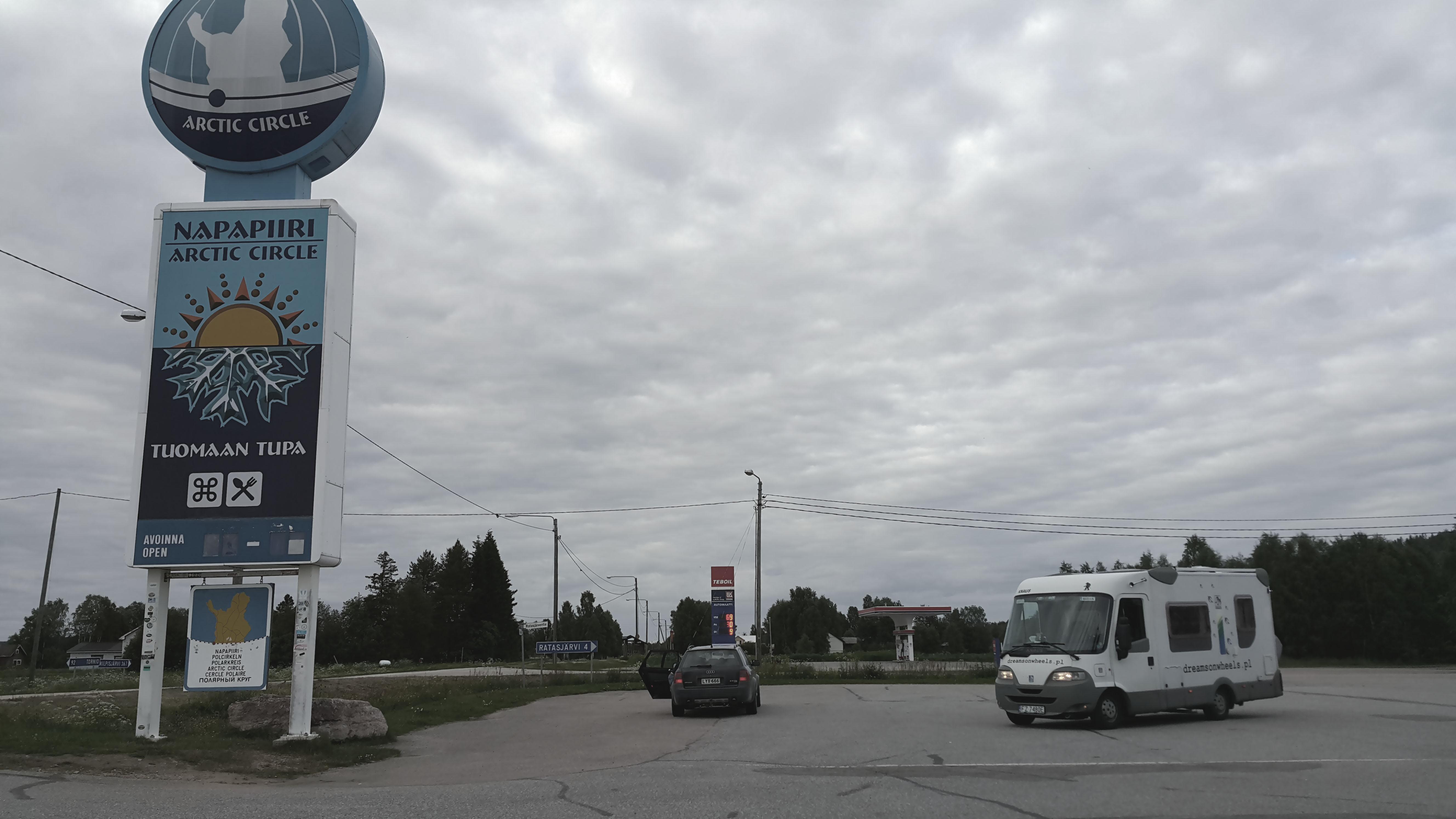 Koło podbiegunowe Finlandia