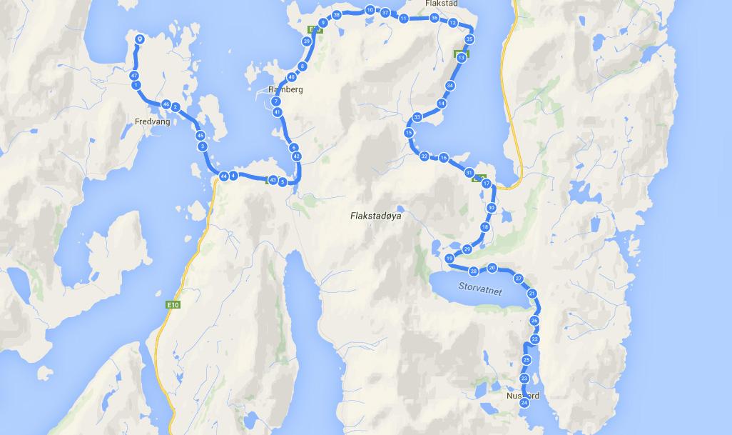 Z Fredvangu do Nusfjord. Lofoty