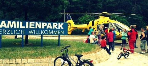 Familien Park, Grosskoschen, Lausitzer Seenland, Niemcy