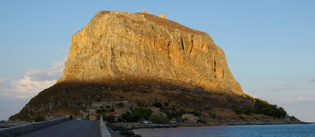 Oderwana od rzeczywistości Monemwazja. Peloponez, Grecja.