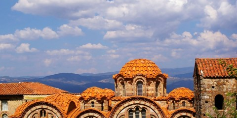 Mistra, Peloponez. U bizantyjskich świętych.